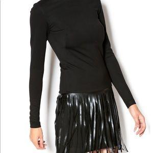 🖤 Amanda Uprichard black dress with fringe